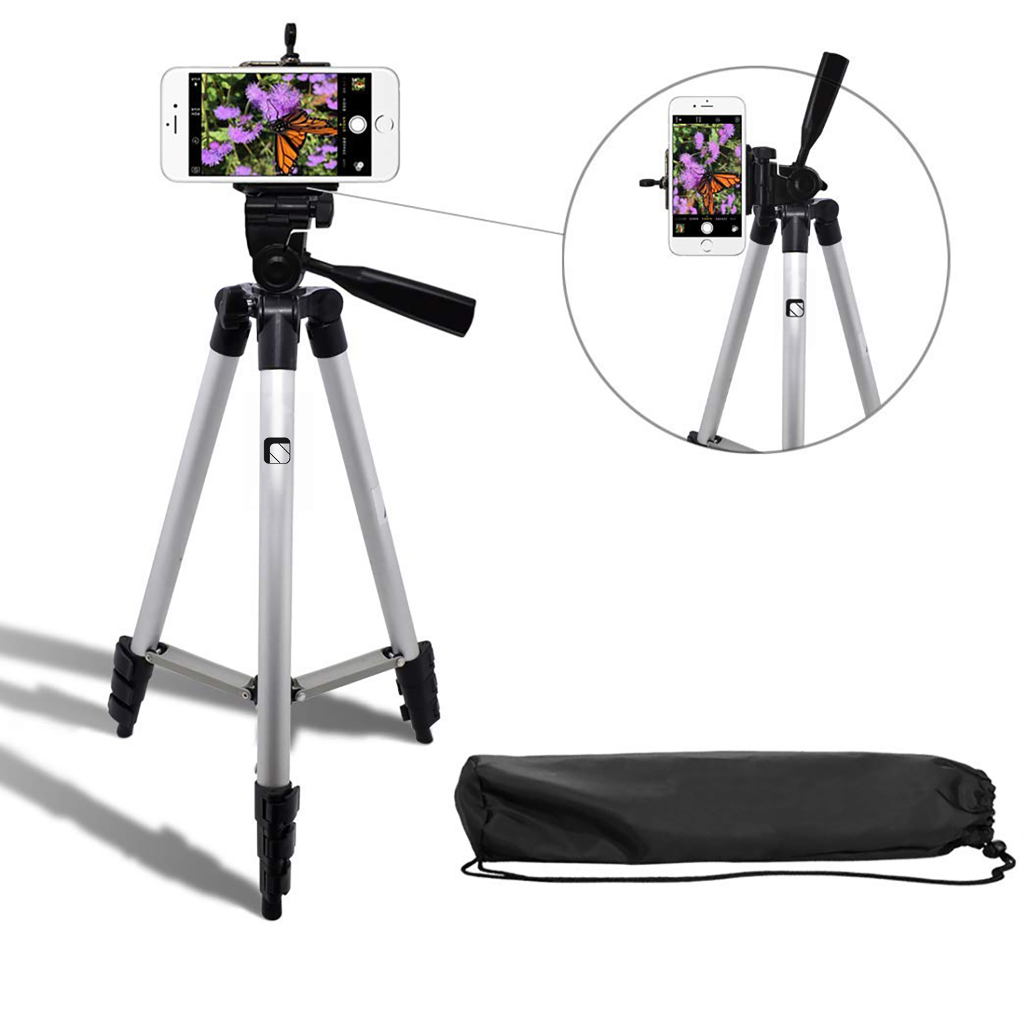 Syvo 3110 Foldable Camera Tripod With Mobile Clip Holder Bracket